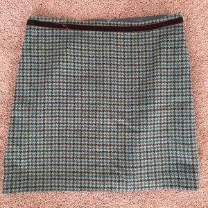 Banana Republic Houndstooth Wool Blend Skirt sz 8